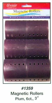 "Annie Magnetic Rollers 6 Count Purple 3"" #1359"