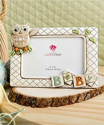 "Baby Owl Picture Frame Horizontal 3d (8"" X 6"" Holds a 6"