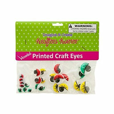 Colored Wiggly Craft Eyes - Case of 75