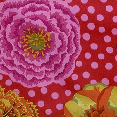 Cotton Tale Designs Flower Print Fabric, Tula Pink Back