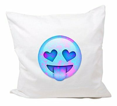 """Cushion Cover 40x40 """"Retro Emoji with outstretched tong"""
