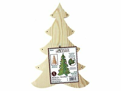 Darice Home for the Holidays - Wood Pine Tree - Ready t
