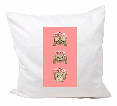 """Cushion Cover 40x40 """"Three monkeys with paw background"""