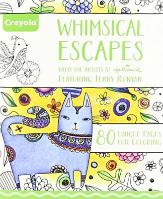 Crayola Whimsical Escapes, Adult Coloring Book, Relaxin