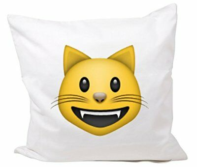 """Cushion Cover 40x40 """"Smiling cat face with open mouth"""""""