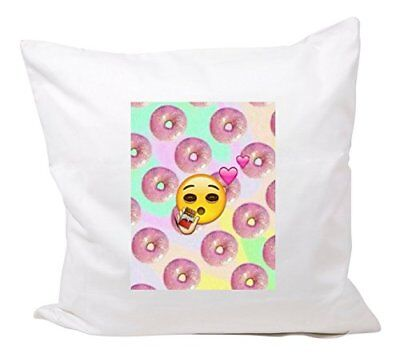 """Cushion Cover 40x40 """"Donut Emoji with big eyes and many"""