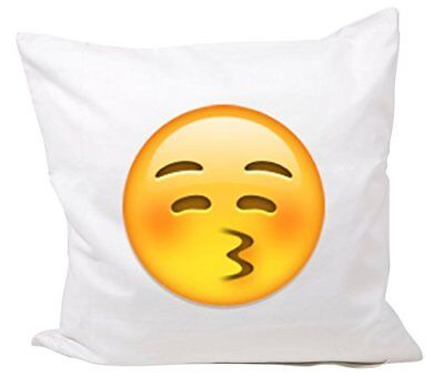 """Cushion Cover 40x40 """"Kissing face with eyes closed"""" Pil"""