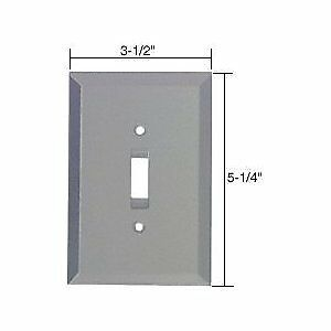 C.R. LAURENCE GMP3G CRL Gray Toggle Switch Glass Mirror