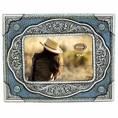 "LL Home 12993 Turquoise Silver 6"" x 4"" Photo Frame"