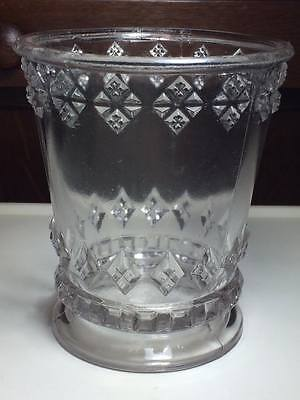 McKee and Brothers home pattern pressed glass sugar bowl