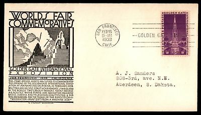 Mayfairstamps US FDC 1939 GOLDEN GATE INTERNATIONAL EXPO C STEPHEN ANDERSON UNSE
