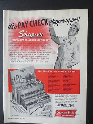 Vintage 1954 Snap-on Tools of Canada Trade Magazine Ad