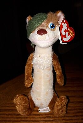TY Beanie Baby Buck Weasel Ice Age Movie