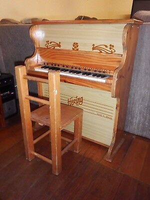 VINTAGE HERING CHILDRENS TOY PIANO COLLECTABLE OR USABLE Made in BRAZIL Good Con