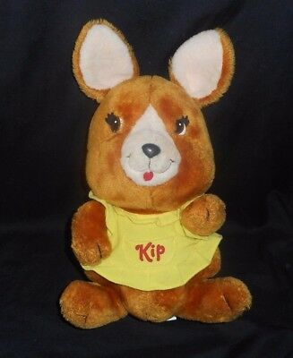 "16"" Big Vintage 1983 Shirt Tales Kip The Kangaroo Stuffed Animal Plush Toy Lovey"