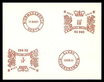 Mayfairstamps Great Britain 11 1/2d Meter Test cancel 1961 Postal Card
