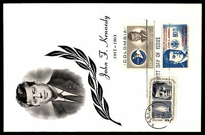 Mayfairstamps John F Kennedy 1964 Combo FDC Mixed Frank Folder Colombia & Mexico