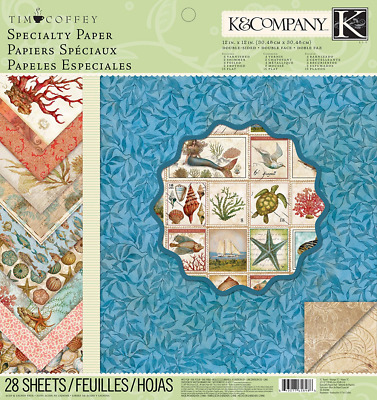 K&Company Tim Coffey Travel Specialty Paper Pad, 12-Inch by 12-Inch