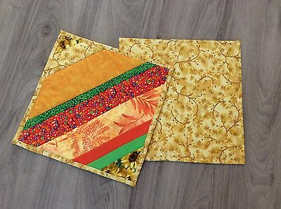 BEAUTIFUL FABRIC PLACEMATS - HANDMADE by ME