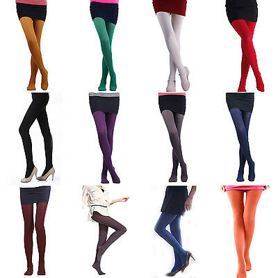 Colorful Opaque Stretch Womens 120D Thick Warm Winter Pantyhose Stockings Tights
