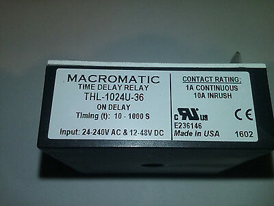 New Macromatic Thl-1024U-36 Time Delay Relay Nos
