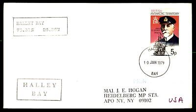 Mayfairstamps British Antarctic Territory Halley Bay 1979 Jan 10 Cancelled cover