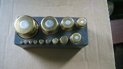 vintage set of ohaus scale weights