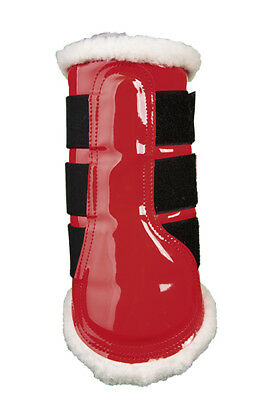 PATENT COMFORT BRUSHING BOOTS - RED -by HKM RRP $79.95