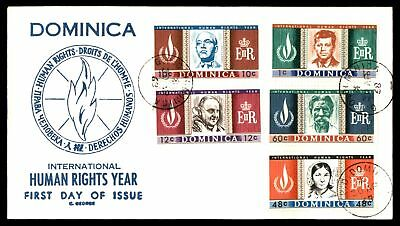 Mayfairstamps Dominica Human Rights Year C George Cachet Unaddressed