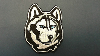 "1 Pc ""s"" Size Iron-On Siberian Husky Emb Patch 2-1/4X3"""