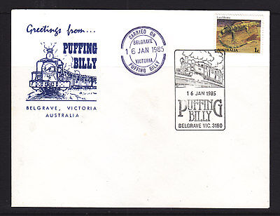 """Souvenir Covers: 1985 Carried On  """"puffing Bill"""""""