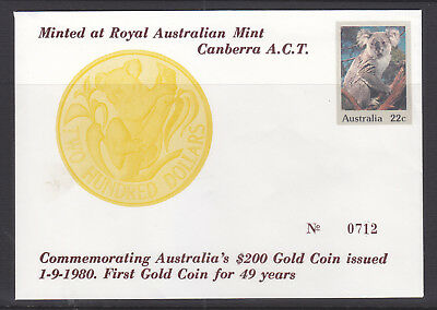 Souvenir Covers: 1980 The Pnc That Never Happened $200.00 Gold Coin Lim/ed #712