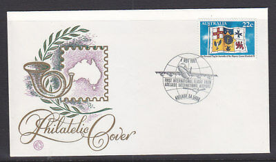 Souvenir Covers: 1982 First International Flight From Adelaide Int Airport Wcs
