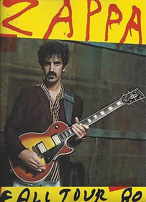 Frank Zappa Fall Tour 80 Program Book (1980) **NEW**  **UNREAD**