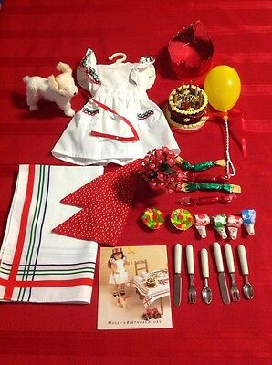 Molly American Girl RETIRED Birthday Dress & Birthday Treat Set HARD TO FIND!