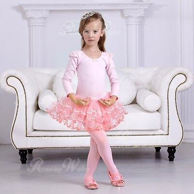 AU 120 Denier Kids Child Girls Ballet Tap Modern Dance Tights Dancewear 3-9 Ages