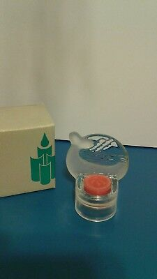 Partylites Glass Whale Tealite Candle Holder In Original Box