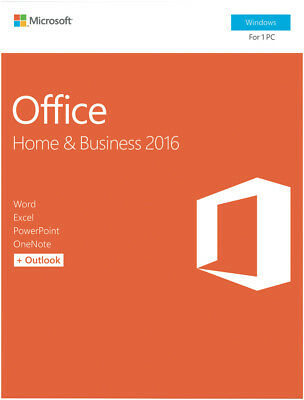 NEW Microsoft T5D-02877 Office Home & Business 2016