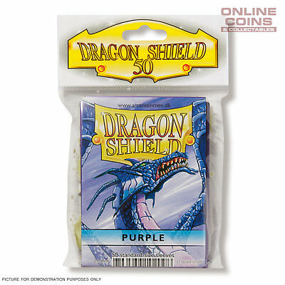 DRAGON SHIELD - Classic Standard Card Sleeves PURPLE Pack of 50 #AT-10109