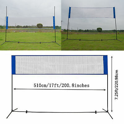 10'X5' Height Adjustable Badminton Net , Tennis Volleyball with Stand / Frame