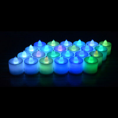 Muti-Color LED Wedding Flameless Romantic Tea Light Candle Lights Dinner Party