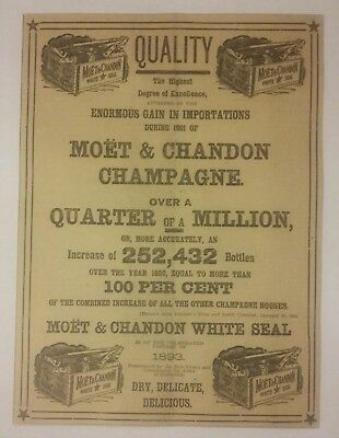 1902 Moet & Chandon Champagne White Seal Ad