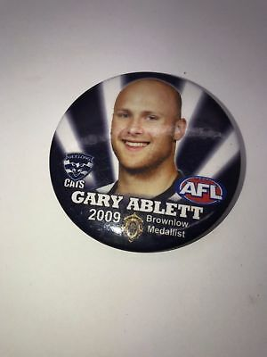 Gary Ablett 2009 Brownlow Medallist Geelong Cats Afl Footy Tin Badge