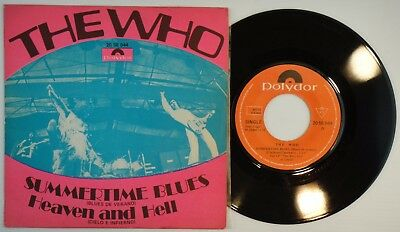 "7"" THE WHO ‎– Summertime Blues • 45 RPM Spain 1970 EX+ * / Pete Townsend UNIQ PS"