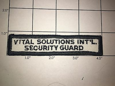 Vital Solutions Int'l Security Guard Patch - Vintage
