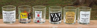 Lovely Scotch Whisky Promotional Logo Barware Spirit Glasses x 6 *Made in Italy