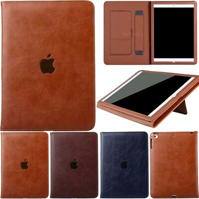 Slim Leather Smart Stand Business Case Cover For iPad 5th 6th Gen Mini Air Pro