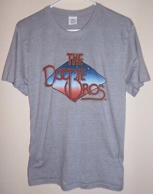 official DOOBIE BROTHERS sm/med SHIRT rock concert vtg 1982 tour 1980's