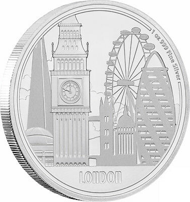 2017 Great Cities - London 1oz Silver Proof Coin