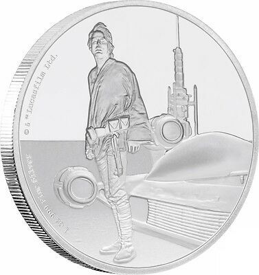 2017 Star Wars - Luke Skywalker 1oz Silver Proof Coin